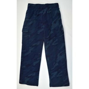 Kids Boys Print Cargo Pants Fleece New Navy Camo